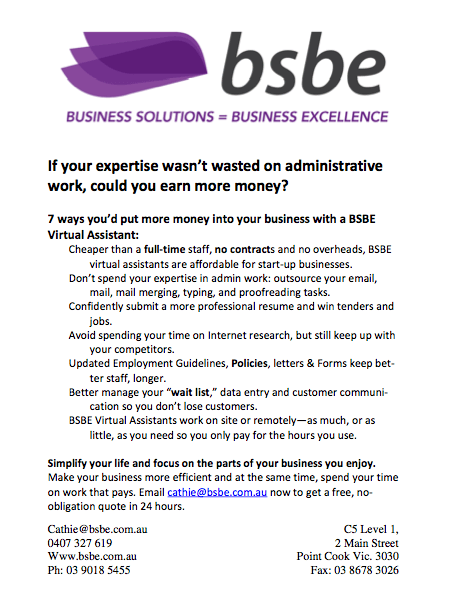 Bsbe Sales Letter Tangible Words