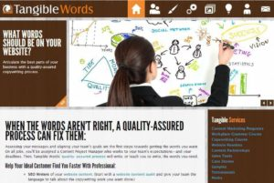 Tangible-Words-Website-300x201 A Website Content Rewrite: Case Story