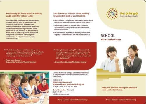Miamba copywritten brochure
