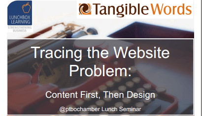 Tracing The Website Problem - Peterborough Seminar