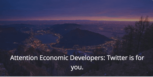 Economic Developers on Twitter
