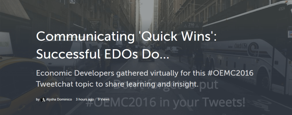 What Successful EDOs Do