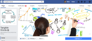 Tangible Words Facebook Business Page
