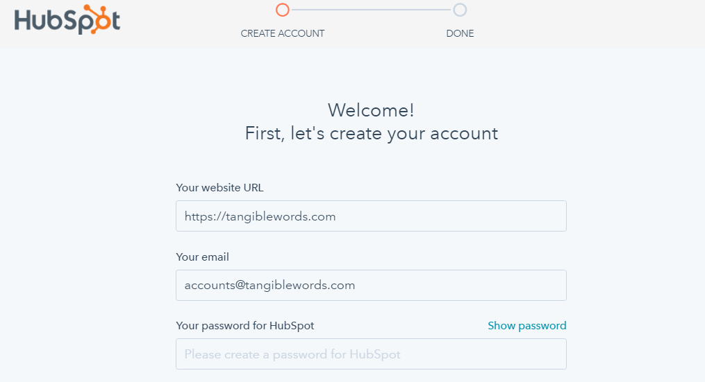 Create Your Hubspot Account