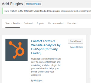 Hubspot Free Marketing Tool WordPress plugin