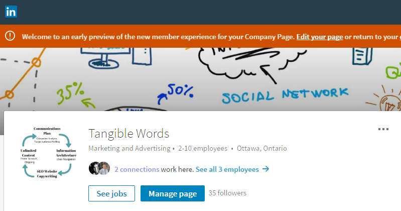 LinkedIn Tangible Words