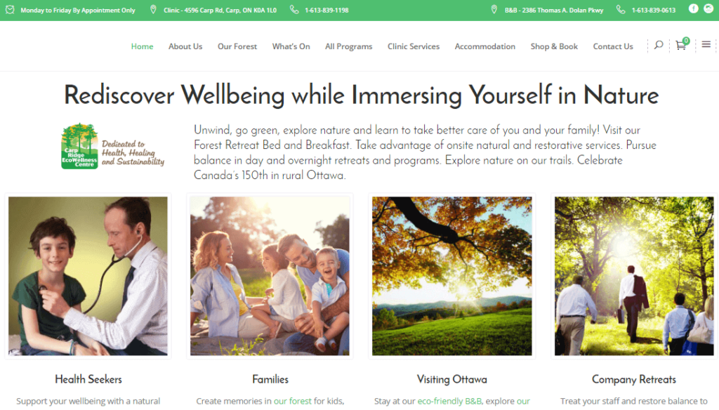 Ecowellness website