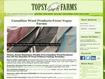 Topsy Farms Website